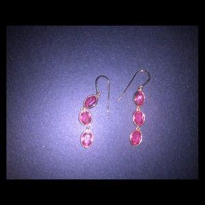 Swarovski pink crystal earrings